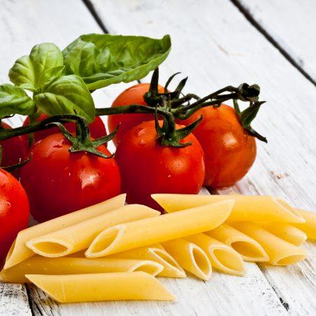 fresh mostaccioli pasta