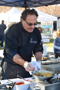 Chef Tony Rea of Pasta Rea Cooking Fresh Pasta at Phoenix Uptown Farmers Market