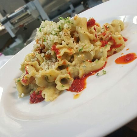 Gigli pasta with an artichoke sauce